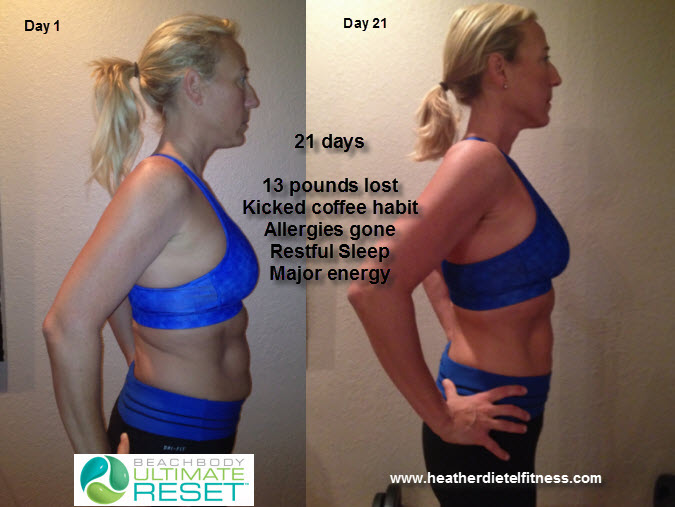 21 day Results from the Beachbody Ultimate Reset