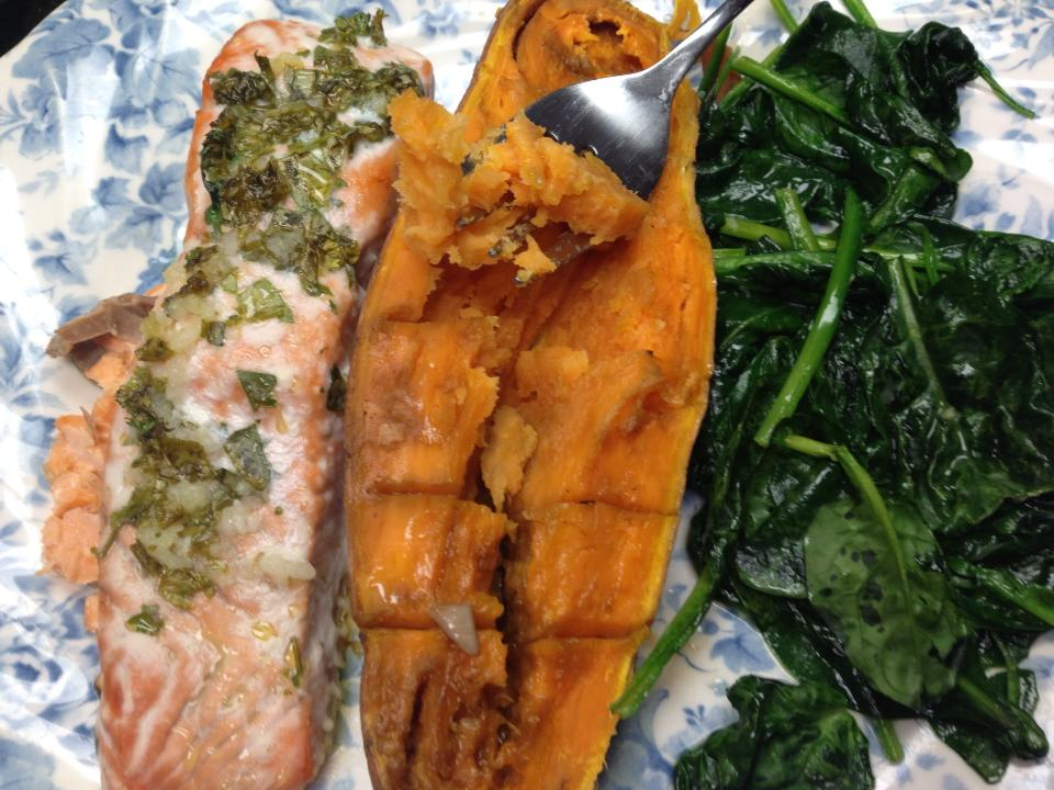 Baked salmon from the 21 day ultimate reset